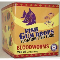 San Francisco Bay Coffee Fish Gum Drops Floating Fish Food - Bloodworms