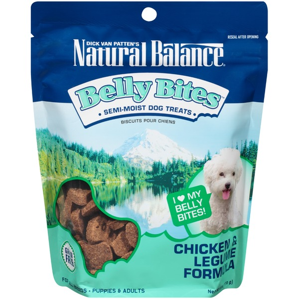 Natural Balance Belly Bites Chicken & Legume Formula Dog Treats