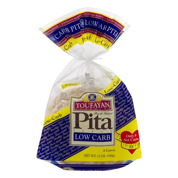Toufayan Bakeries Pita Bread Low Carb - 6 CT