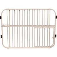 Carlson Pet Products Lil' Tuffy Expandable Gate With Small Pet Door 26