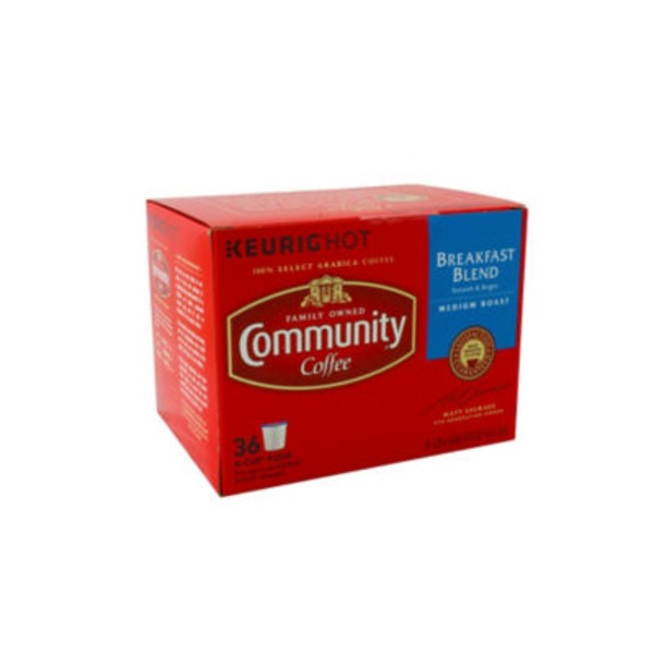 Community Coffee Breakfast Blend Medium Roast Coffee Single Serve Cups