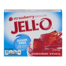 Jell-O Gelatin Dessert Strawberry, 0.6 Oz
