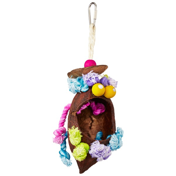 Prevue Hendryx Tropical Teasers Coconut Bird Toy Small/Medium