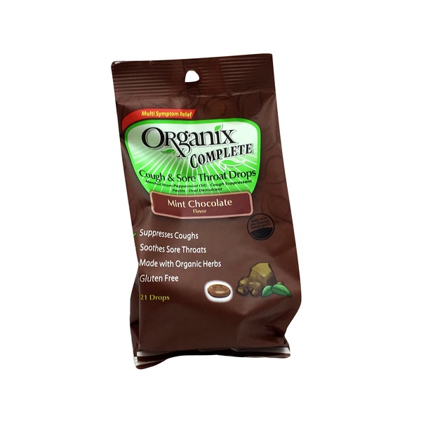 Organix Complete Mint Chocolate Flavor Cough & Sore Throat Drops