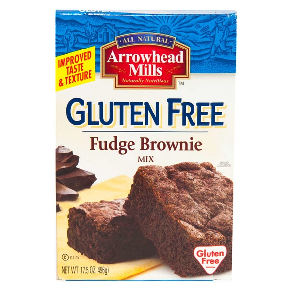 Arrowhead Mills Fudge Brownie Mix, Gluten Free, Box