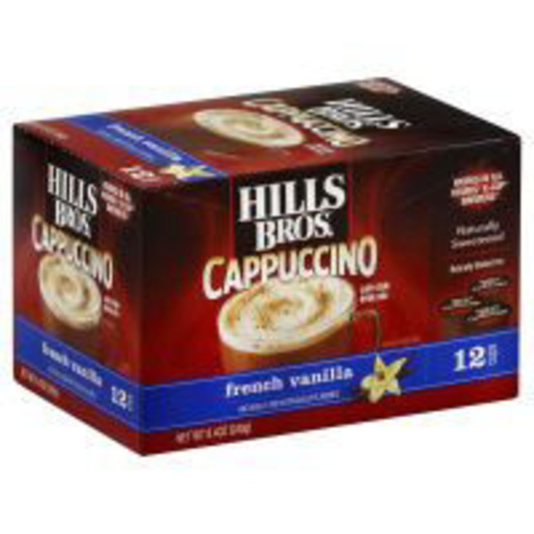 Hills Bros Cappuccino French Vanilla Single Serve Cups Café Style Drink