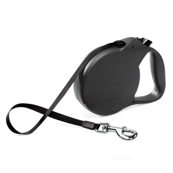 Flexi Retractable Lead Large Black Explorer 110#