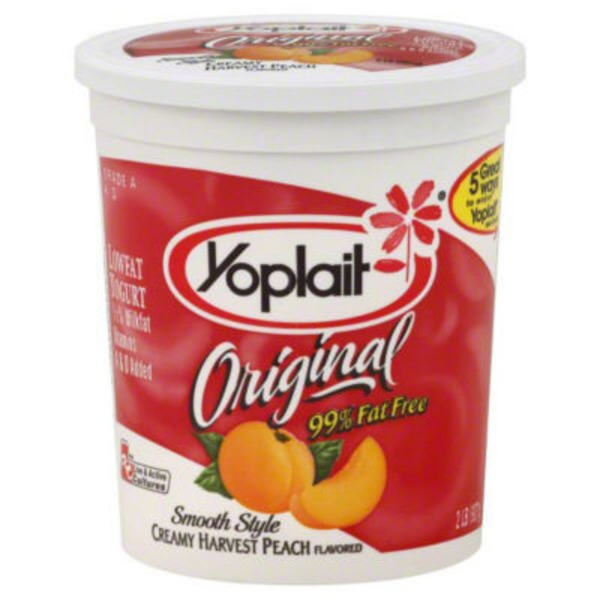 Yoplait Original Smooth Style Harvest Peach Flavored Low Fat Yogurt