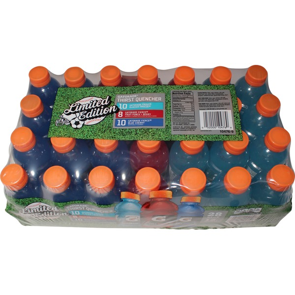 Gatorade Frost Glacier Freeze/Gatorade Fierce Fruit Punch+Berry/Gatorade Fierce Blue Cherry All Stars Variety Pack Thirst Quencher Sports Drink