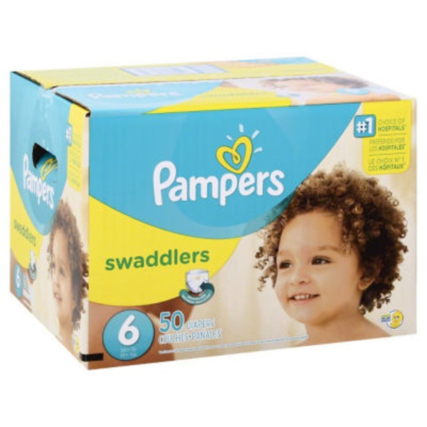 Pampers Swadlers Pampers Swaddlers Diapers Size 6 50 count Diapers