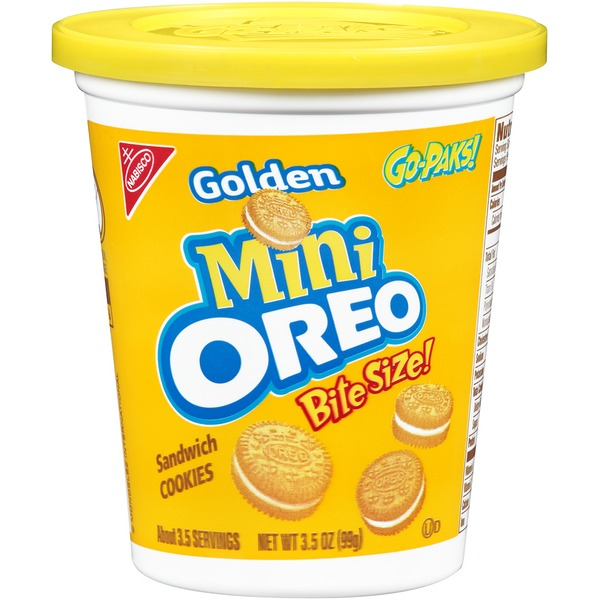 Nabisco Oreo Golden Mini Bite Size Go-Paks Sandwich Cookies