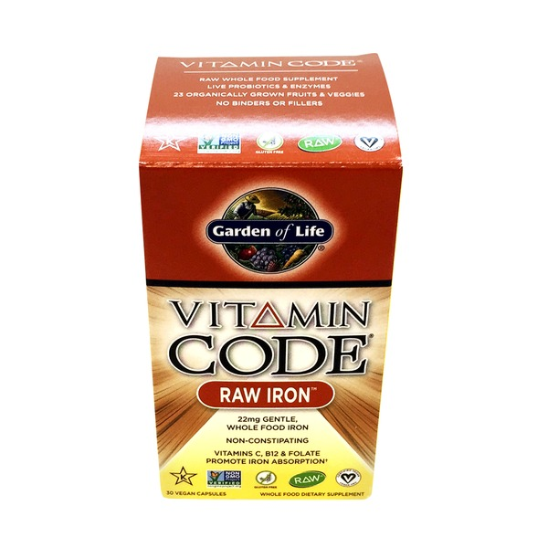 Garden of Life Vitamin Code Raw Iron 22 Mg