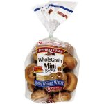 Pepperidge Farm Mini Bagels Whole Grain Pre-Sliced, 12 ct, 17 oz