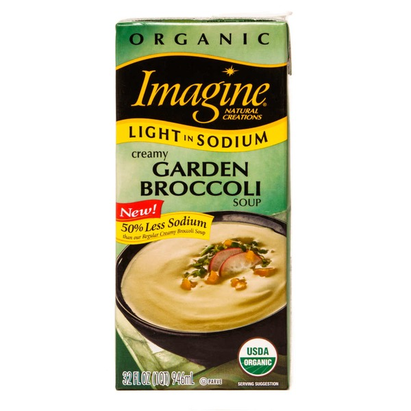 Imagine Foods Organic Light In Sodium Soup Creamy Garden Broccoli