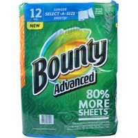 Bounty Basic Select-A-Size Paper Towels, White, 12 Rolls Towels/Napkins