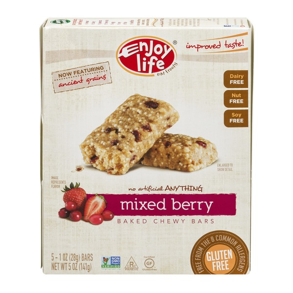 Enjoy Life Baked Chewy Bars Mixed Berry - 5 CT