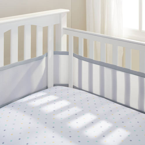 BreathableBaby Mesh Crib Liner Gray
