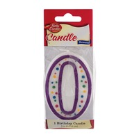 Betty Crocker Birthday Candle Numeral 0