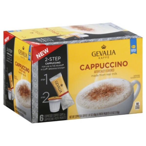 Gevalia Kaffe Cappuccino K-Cups & Froth Packets