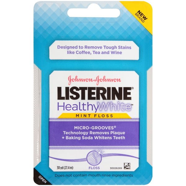 Listerine® HealthyWhite™ Micro-Grooves Mint Floss
