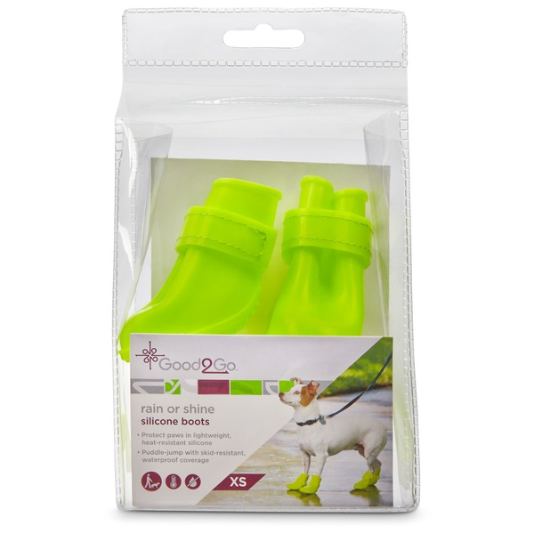 Good2 Go Rain Or Shine Yellow Silicone Dog Boots