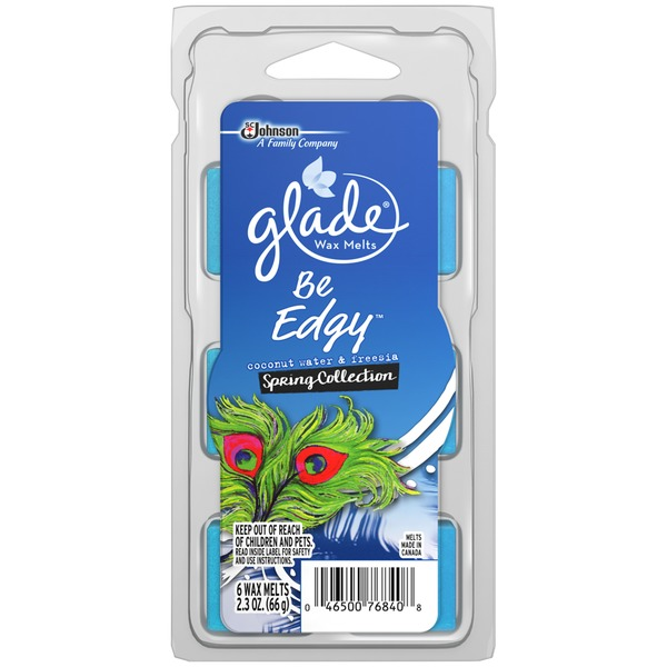 Glade Be Edgy Spring Collection Coconut Water & Freesia Wax Melts Refill