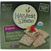 Harvest Stone Organic Brown Rice, Sesame & Flax Seed Crackers