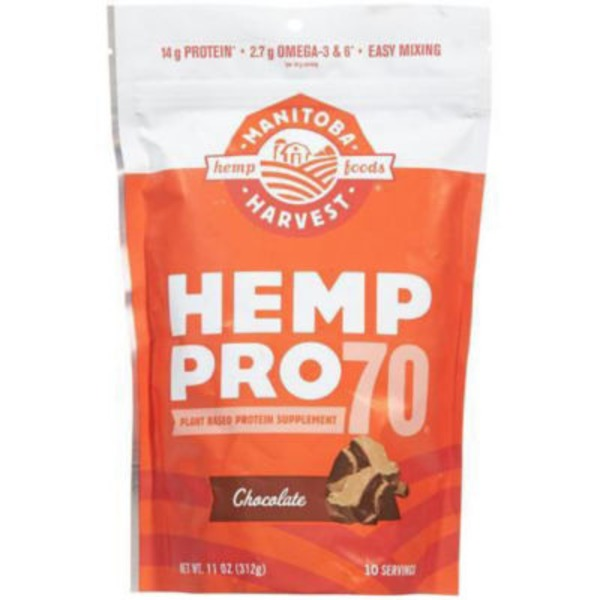 Manitoba Harvest Hemp Pro 70 Plant Based Protein Supplement Chocolate