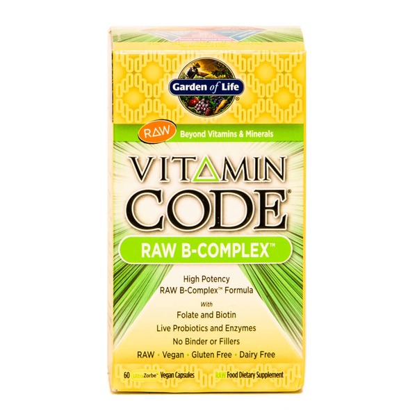 Garden of Life Vitamin Code Raw B-Complex Dietary Supplement Capsules