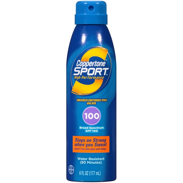 Coppertone Sport Broad Spectrum SPF 100 Sunscreen Spray