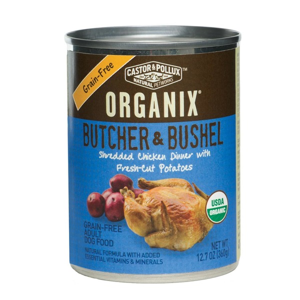 Castor & Pollux Organix Butcher & Bushel Grain Free Shredded Chicken Dog Food