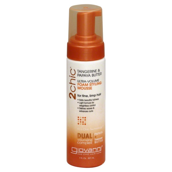 Giovanni Tangerine & Papaya Butter Ultra-Volume Foam Styling Mousse