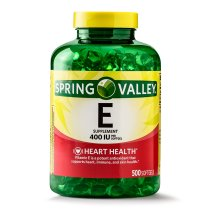 Spring Valley Vitamin E Softgels, 400 IU, 500 Ct