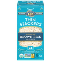 Lundberg Family Farms Thin Stackers Lightly Salted Organic Brown Rice Puffed