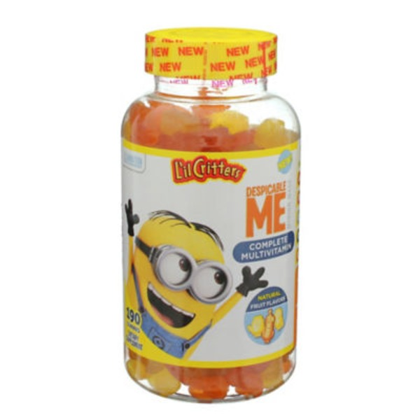 L'il Critters Despicable Me Complete Multivitamin Gummies Fruit Flavors - 190 CT