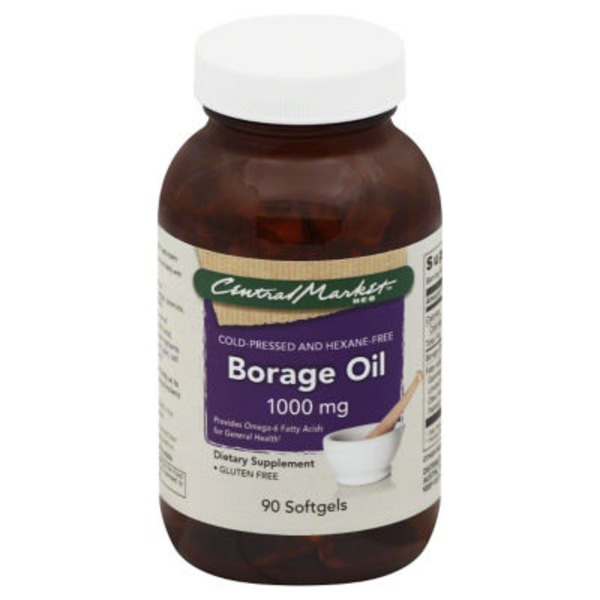 Central Market Borage Oil 1000 Mg Softgels