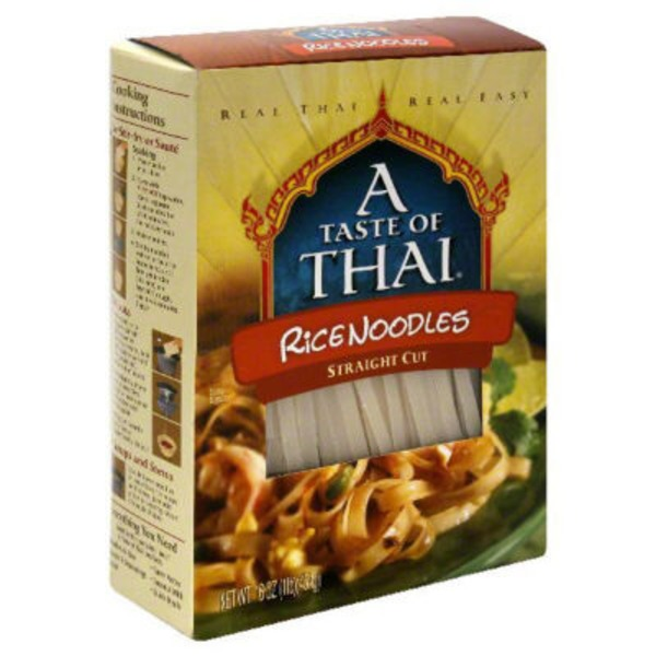 A Taste of Thai Rice Noodles Straight Cut