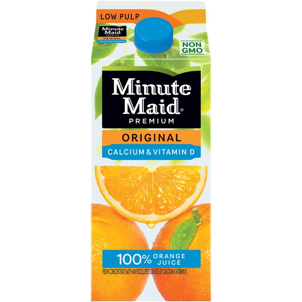Minute Maid Original Calcium + Vitamin D Low Pulp 100% Orange Juice