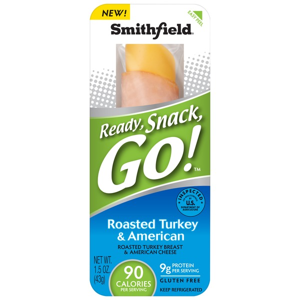 Smithfield Roasted Turkey & American Ready, Snack, Go!