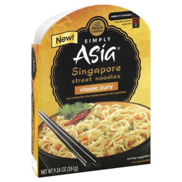 Simply Asia Singapore Street Noodles Classic Curry Noodle Bowl