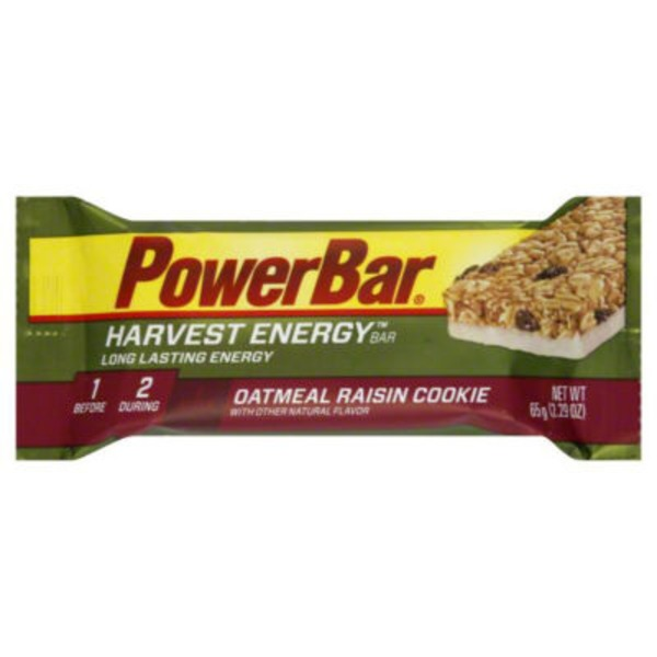 PowerBar Harvest Long Lasting Energy Bar Oatmeal Raisin Cookie