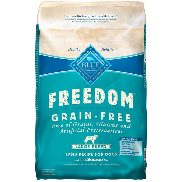 Blue Buffalo Freedom Grain Free Large Breed Lamb Recipe for Dogs With Lifesource Bits