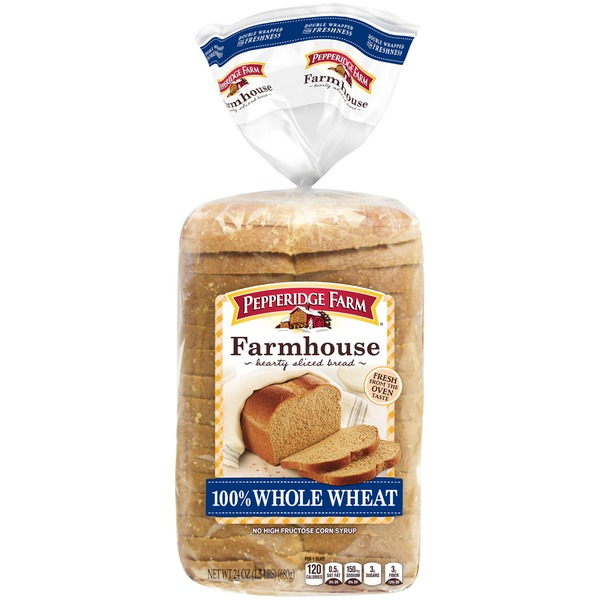 Pepperidge Farm Fresh Bakery Farmhouse 100% Whole Wheat Bread