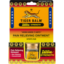 Tiger Balm Ultra Strength Pain Relieving Ointment Sports Rub, 0.63 OZ