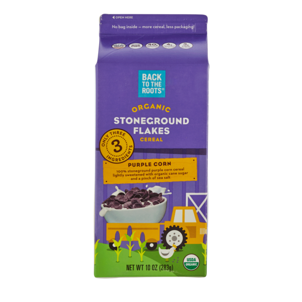 Back to the Roots Stoneground Flakes Purple Corn