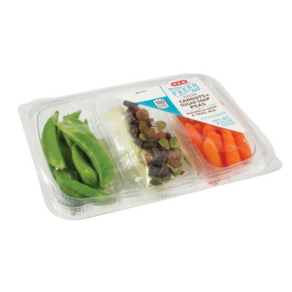 H-E-B Ready, Fresh, Go! Carrots & Sugar Snap Peas Snack Tray