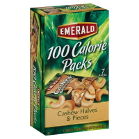 Emerald Nuts 100 Calorie Packs Cashew Halves And Pieces - 7