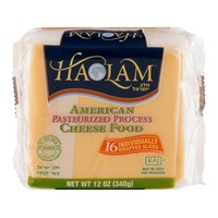 Haolam American Cheese Individually Wrapped Slices - 16 CT