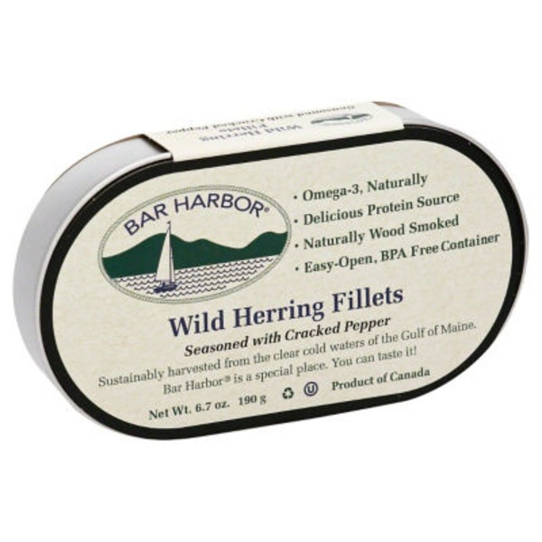 Bar Harbor Wild Herring Fillets Seasoned with Cracked Pepper