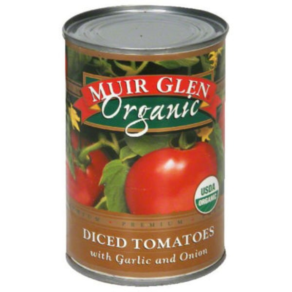 Muir Glen Organic Diced with Garlic & Onion Tomatoes
